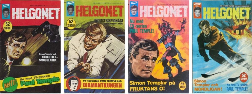 Omslag av Helgonet med Paul Temple. ©Semic
