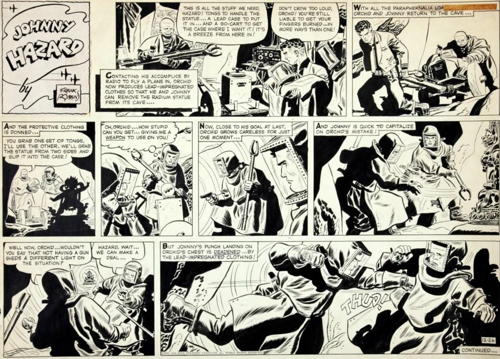Original till söndagssidan från den 26 december 1954. ©KFS
