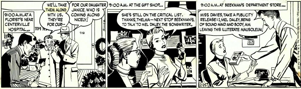 Original till dagsstrippen från 25 februari 1955. ©NEA