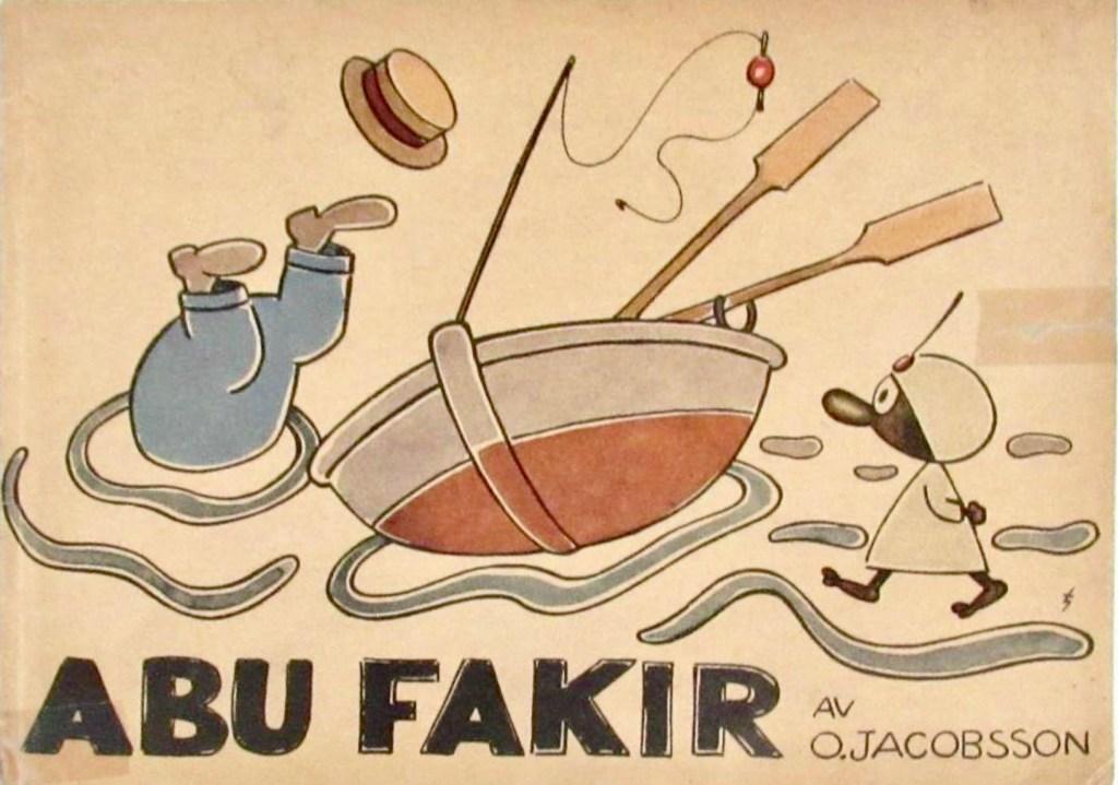 Jacobsson tecknade även Abu Fakir (julabum 1945). ©W&W
