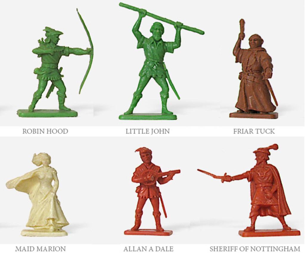 Kellogg's-serien med Robin Hood innehöll sex figurer.