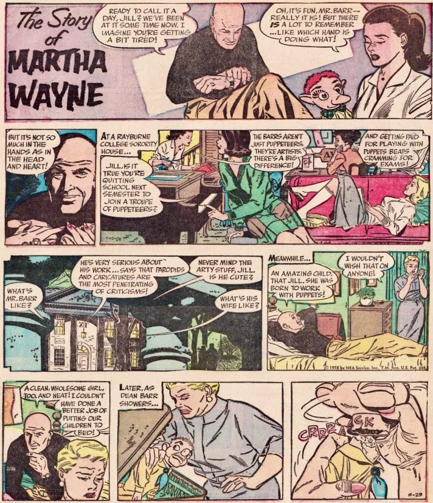 En söndagssida från 23 november 1958. ©NEA