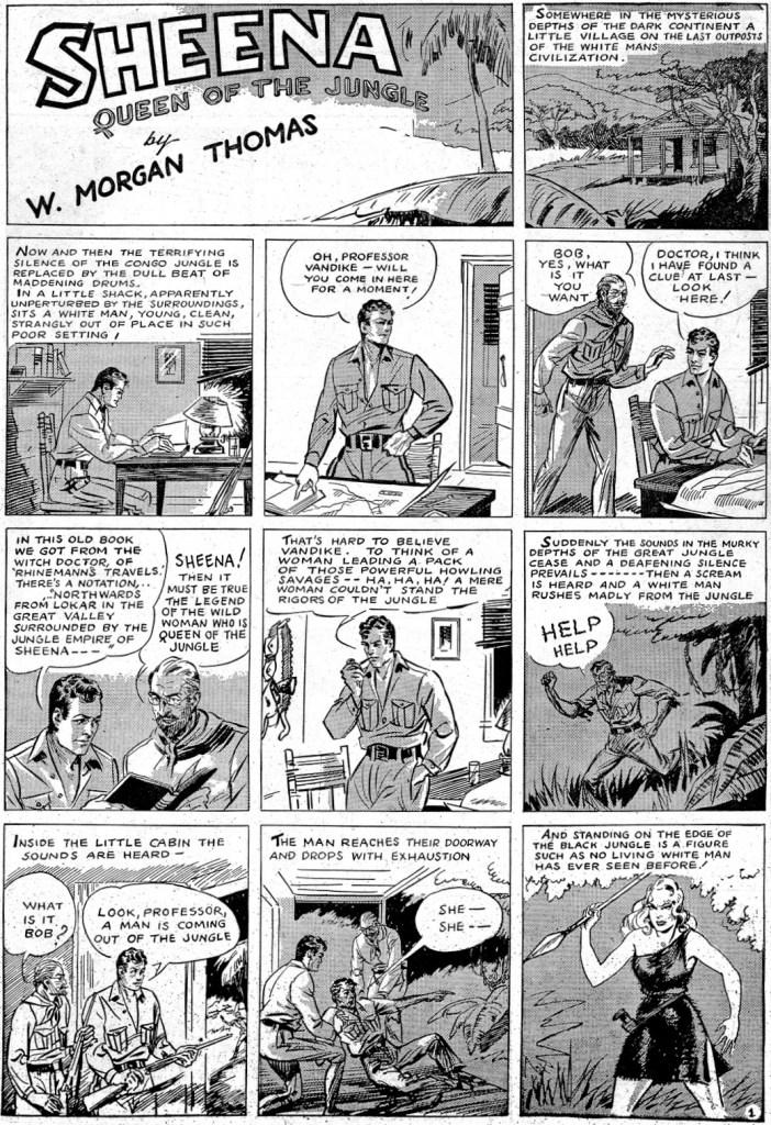 Första införandet av Sheena i Wags #46, ännu inte i sin ikoniska dress av leopardskinn.