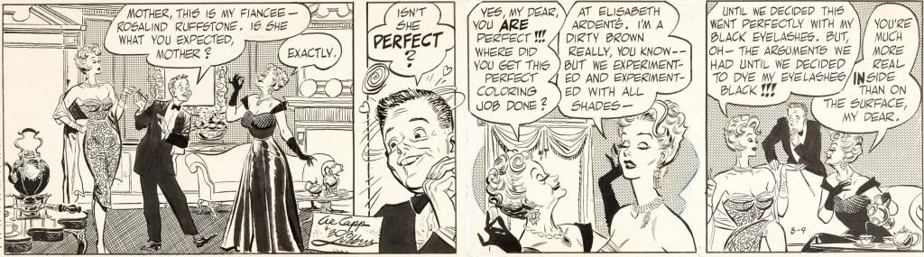 Original till en dagsstripp med Long Sam från 9 augusti 1954. ©United