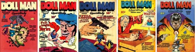 Omslag till Doll Man #1-5 (1941-43). ©Quality