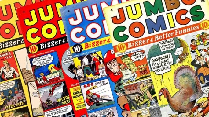 En av de första serietidningarna Eisner & Iger levererade till var Jumbo Comics. ©Fiction House