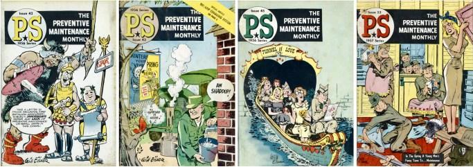 Några omslag till PS: The Preventive Maintenance Monthly (1956).