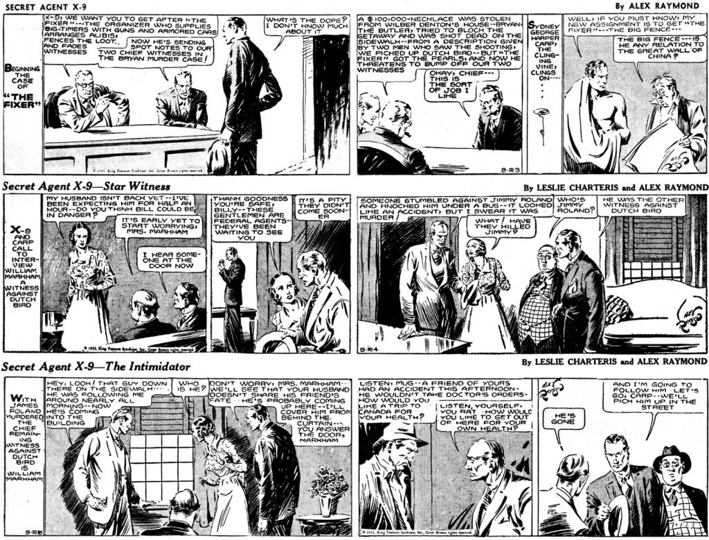 Inledningen till den sjunde episoden, The Fixer, och den första av Charteris, från 23-25 november 1935. ©KFS