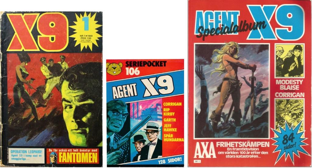 Secret Agent X-9 har fått en egen hemvist i serietidningen som bör seriens namn. ©Semic