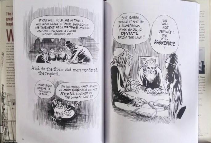 Ett uppslag ur A Contract with God (1978). ©Baronet/Eisner
