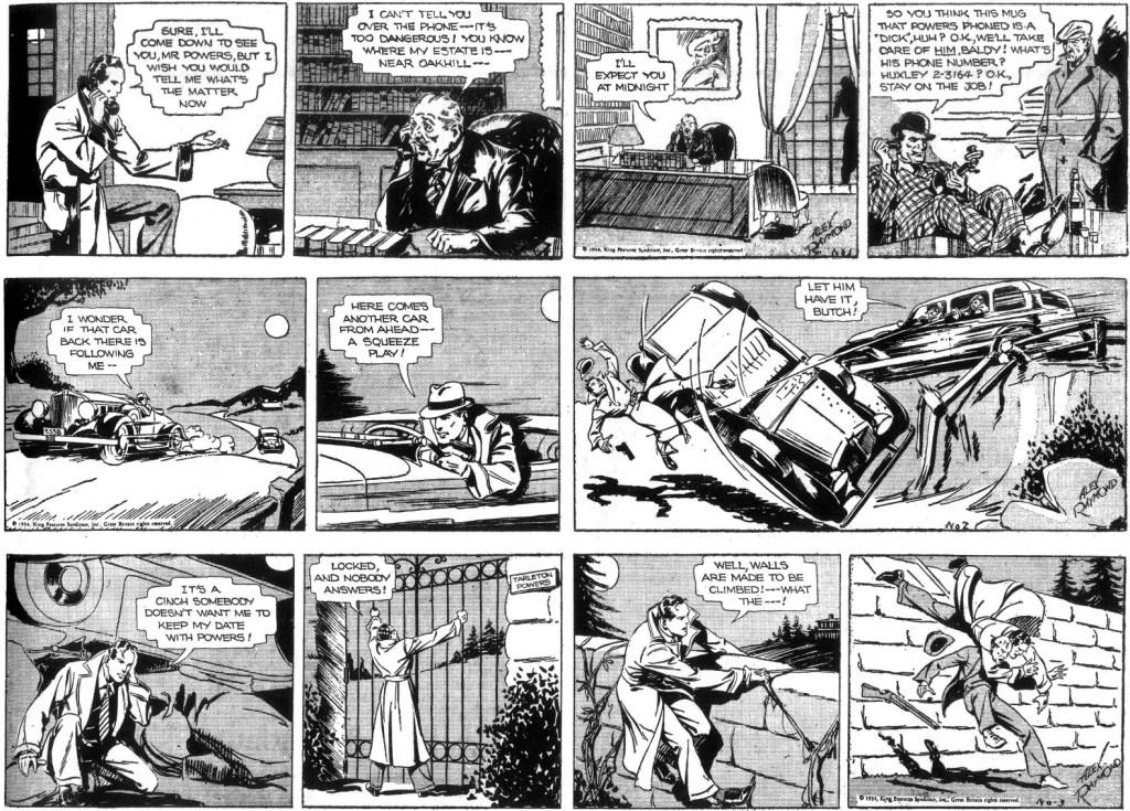 De tre första dagsstripparna från 22-24 januari 1934. ©KFS
