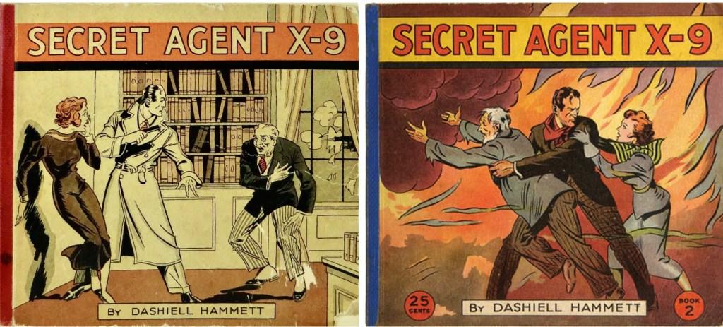 Omslag till Secret Agent X-9, Book One och Book Two (1934). ©McKay