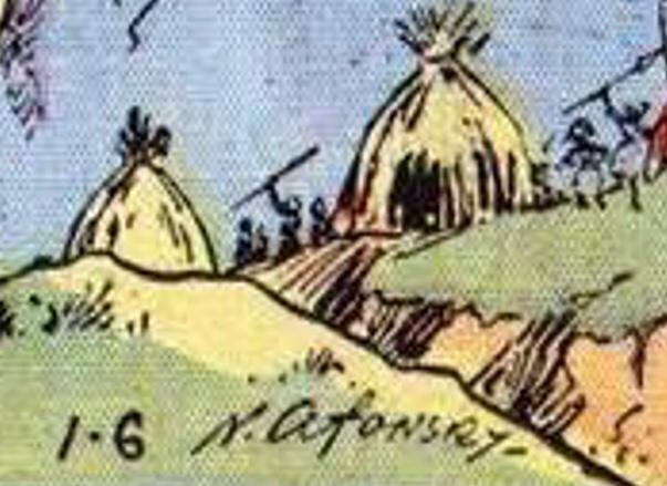 Detalj ur söndagsstripp från 6 januari 1935. ©KFS