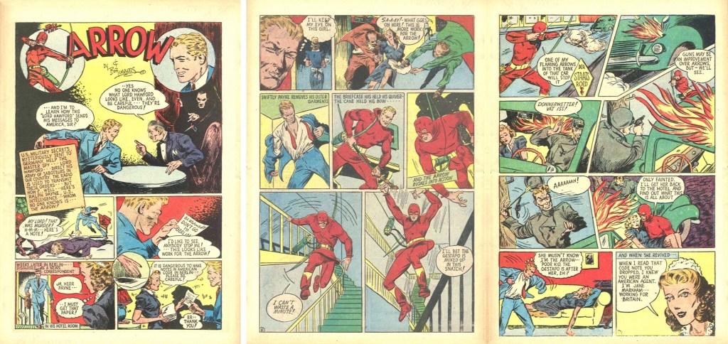 Inledningen till en Arrow-serie av Lubbers ur The Arrow #3 (1941). ©Centaur