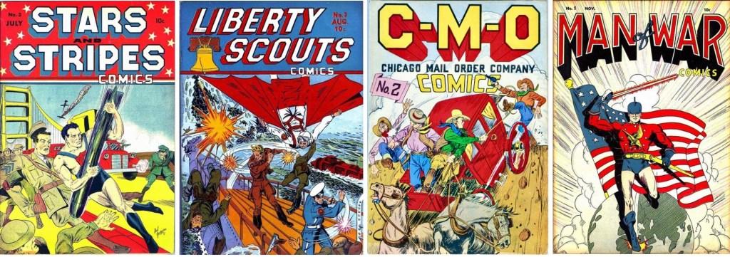 Omslag till serietidningar (1941-42) med serier av Lubbers. ©Centaur