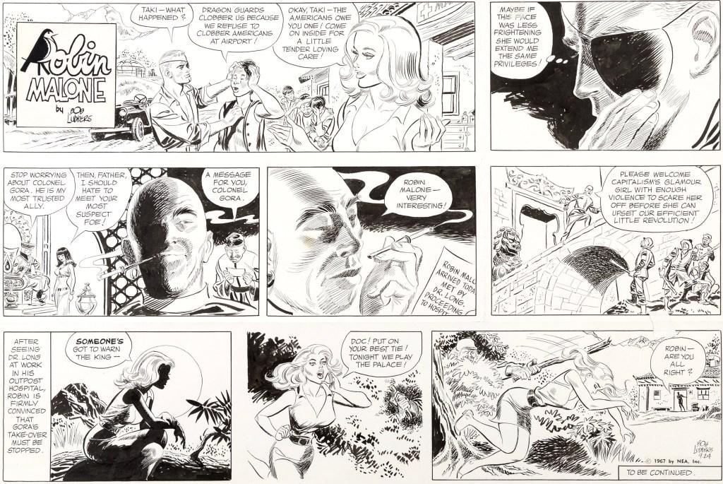 Original till en söndagssida med Robin Malone, från 24 september 1967. ©NEA