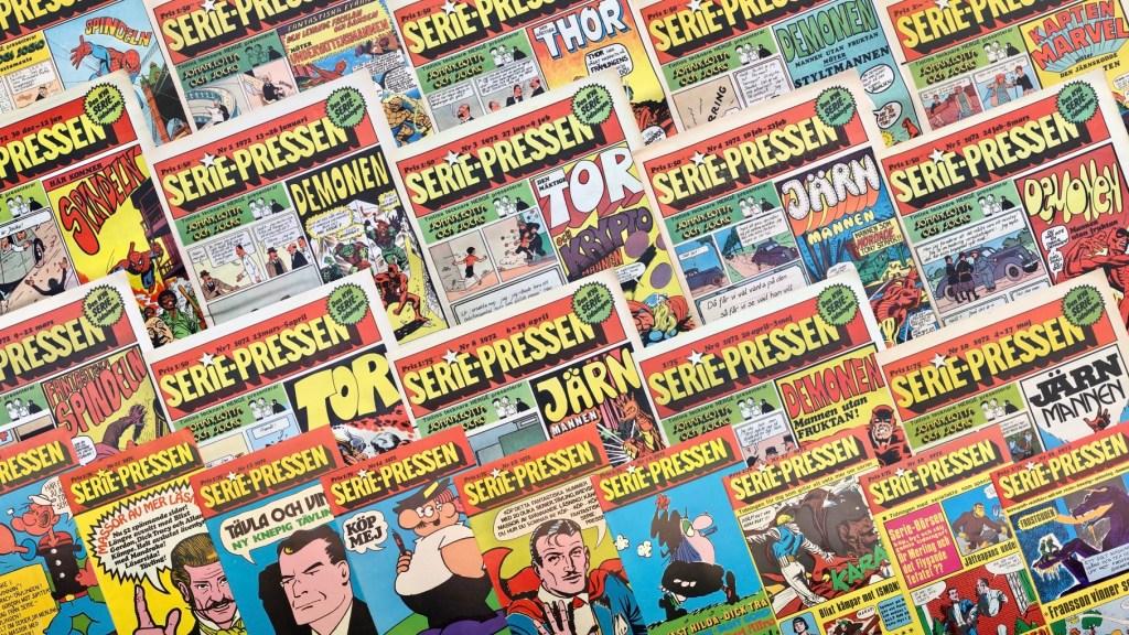 Mandrake var en del av innehållet i Serie-Pressen (1971-72). ©Saxon&Lindström