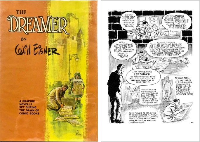 Omslag och en sida ur The Dreamer (1986). ©Kitchen Sink/Eisner
