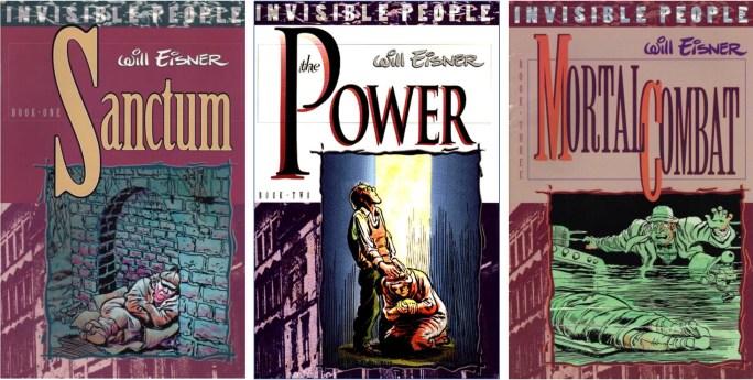 Omslag till Invisible People-trilogin av Will Eisner (1992). ©Kitchen Sink/Eisner