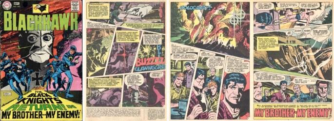 Omslag och inledande sidor ur Blackhawk #242 (1968) ©DC/National