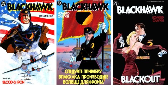 Blackhawk, book one-three, skapad av Howard Chaykin. ©DC/National