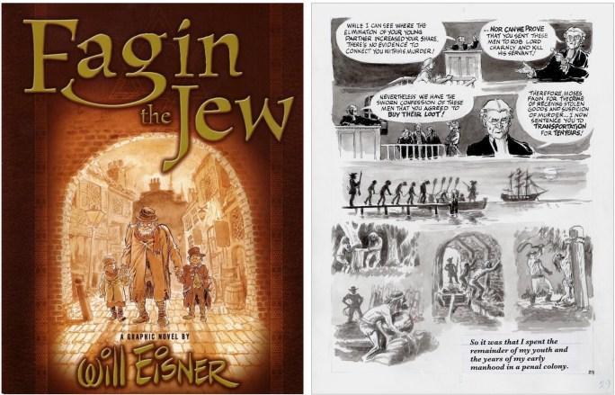 Omslag och en sida ur Fagin the Jew (2003). ©Random House