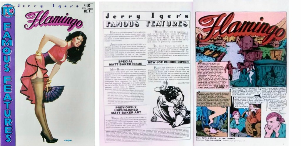 Omslag och inledande uppslag ur Jerry Iger's Famous Features #1 (1984). ©Pacific