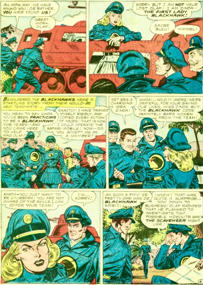 Zinda dyker upp i Blackhawk #133 (1959). ©DC/National