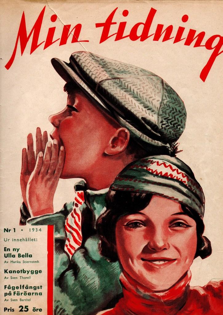 Omslag till Min Tidning nr 1, 1934. ©Å&Å