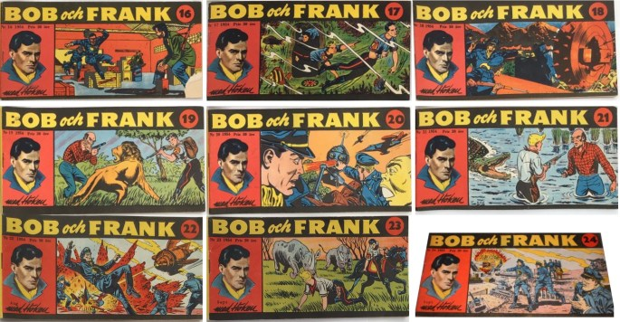 Omslag till Bob och Frank nr 14-24, 1954