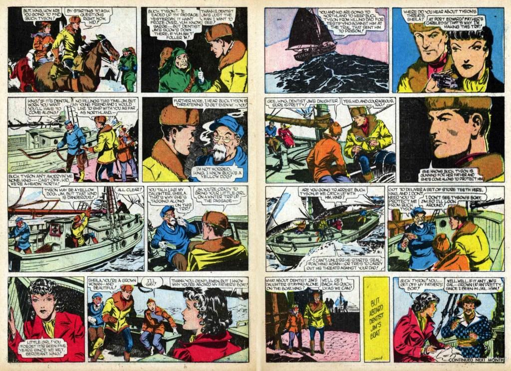 Motvarande sidor ur serietidningen Red Ryder #30 (januari 1946). ©KFS