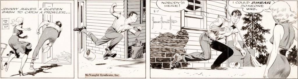 Original till en dagsstripp med Johnny Comet, från 7 augusti 1952. ©McNaught