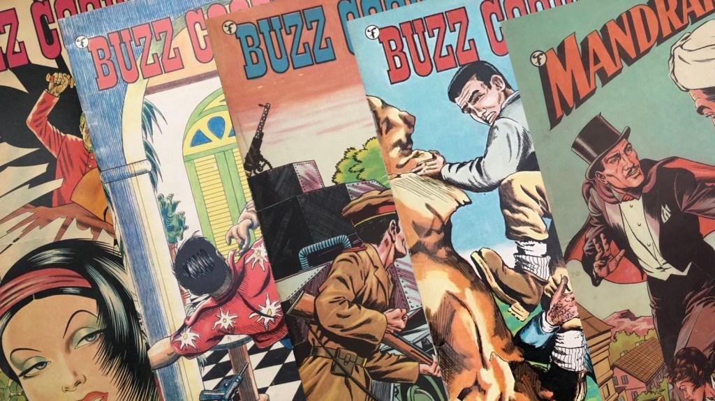 Serietidningen Buzz Cooper utkom med fyra nummer 1963, och fortsatte sedan i Mandrake. ©Formatic