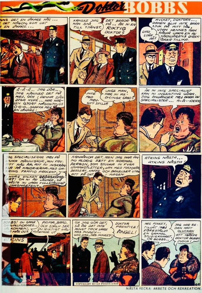 Sidan med Dr. Bobbs ur Veckans serier. ©Bulls