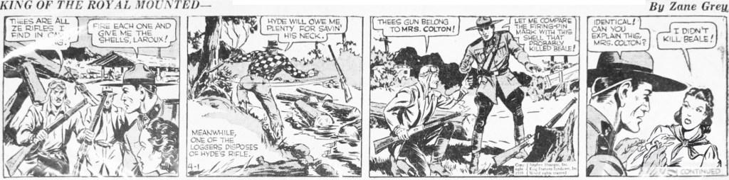 Motsvarande dagsstripp i original , från 1 april 1939. ©KFS