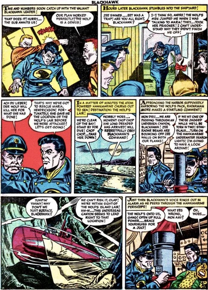 Motsvarande seriesidan original, ur Blackhawk #87 (1955). ©Quality/Comic Favorites