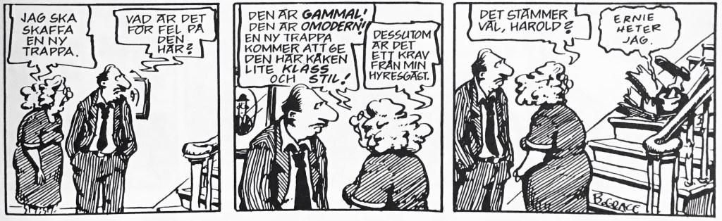 En dagsstripp med Ernie ur nya Comics (1993). ©Bulls/KFS