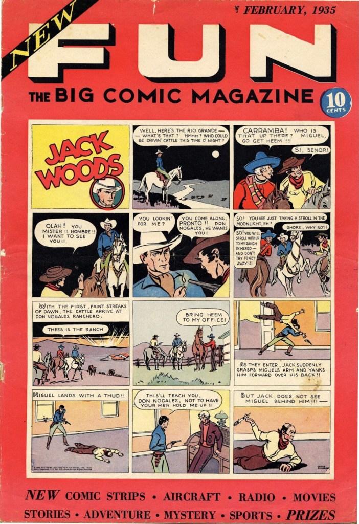 Omslag till första numret med New Fun (1935). ©National Allied