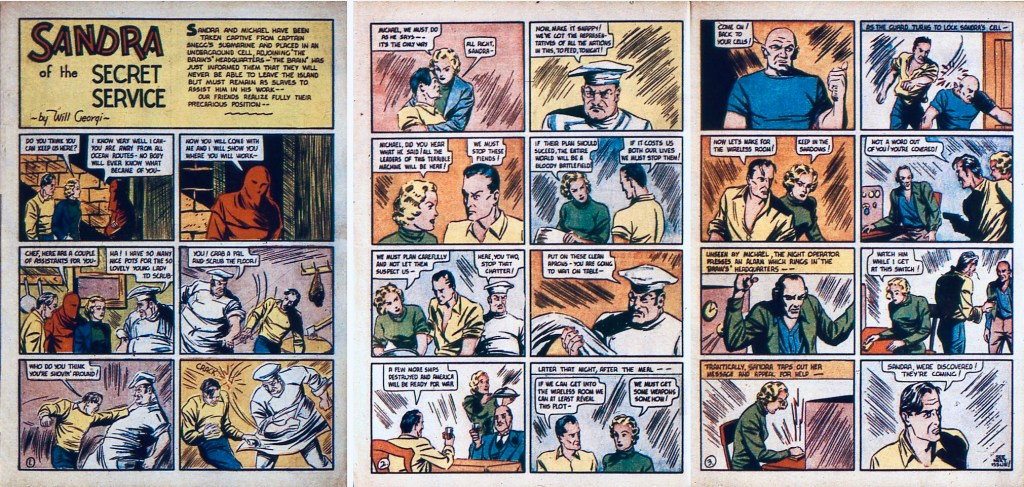 Ett avsnitt av episoden The Brain ur More Fun Comics #23 (1937). ©National Allied