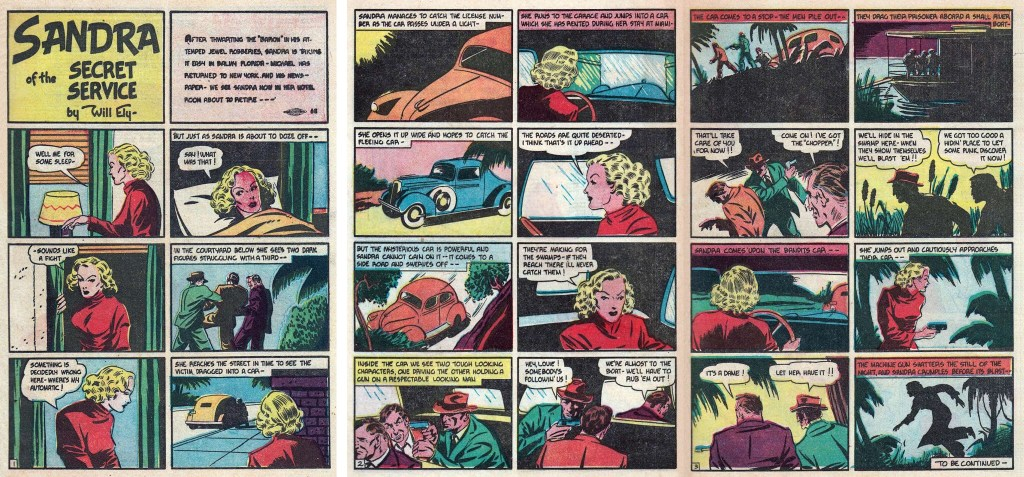 Inledningen av episoden Mobster's Kidnapping ur More Fun Comics #32 (1938). ©National Allied