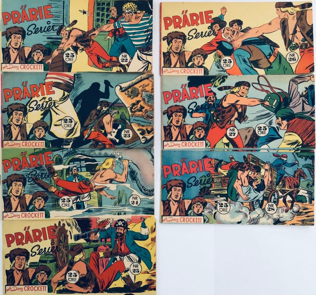 Davy Crockett-äventyr 1959 i Prärieserier nr 22-28, 1959.  ©Centerförlaget