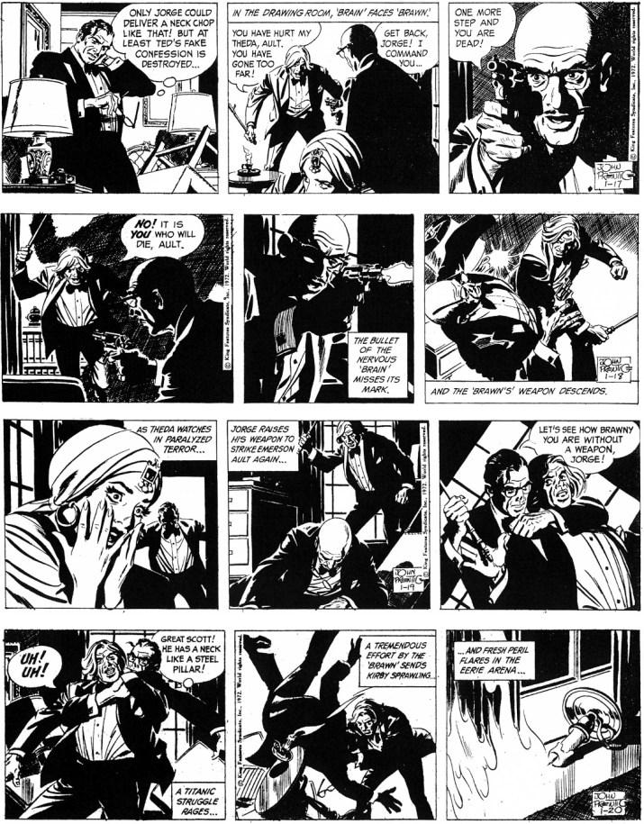 Motsvarande dagsstrippar i original från 17-20 januari 1972. ©KFS