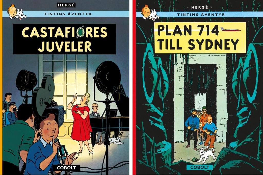 Två album med Tintin utgivna 2020. ©Cobolt