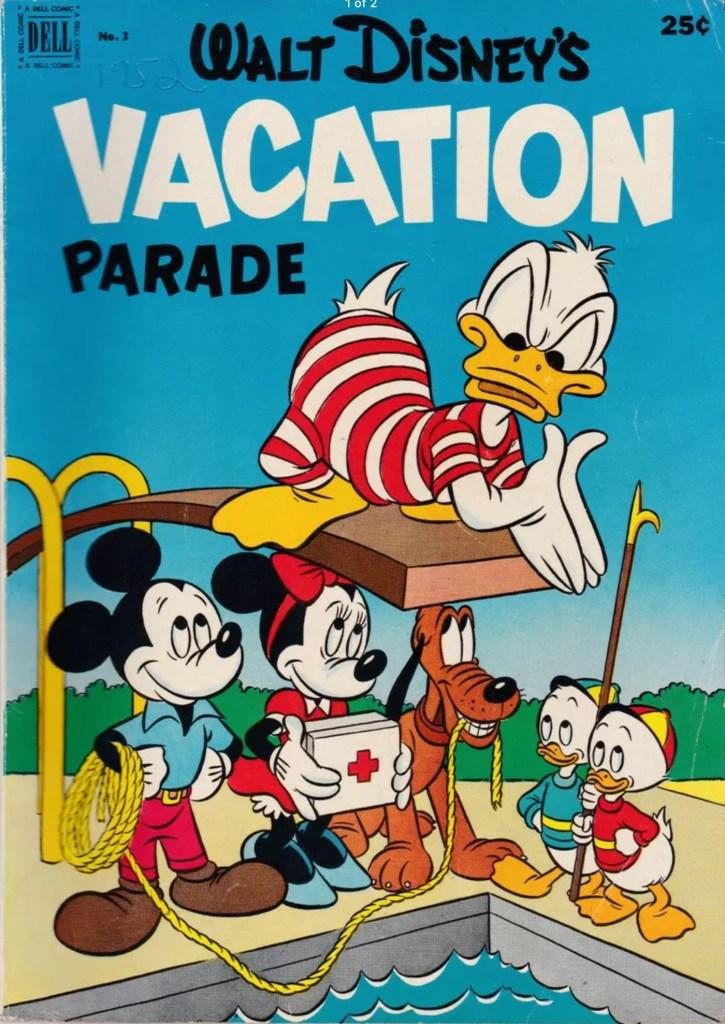 Omslag till Walt Disney's Vacation Parade #3 (iuli 1952).
