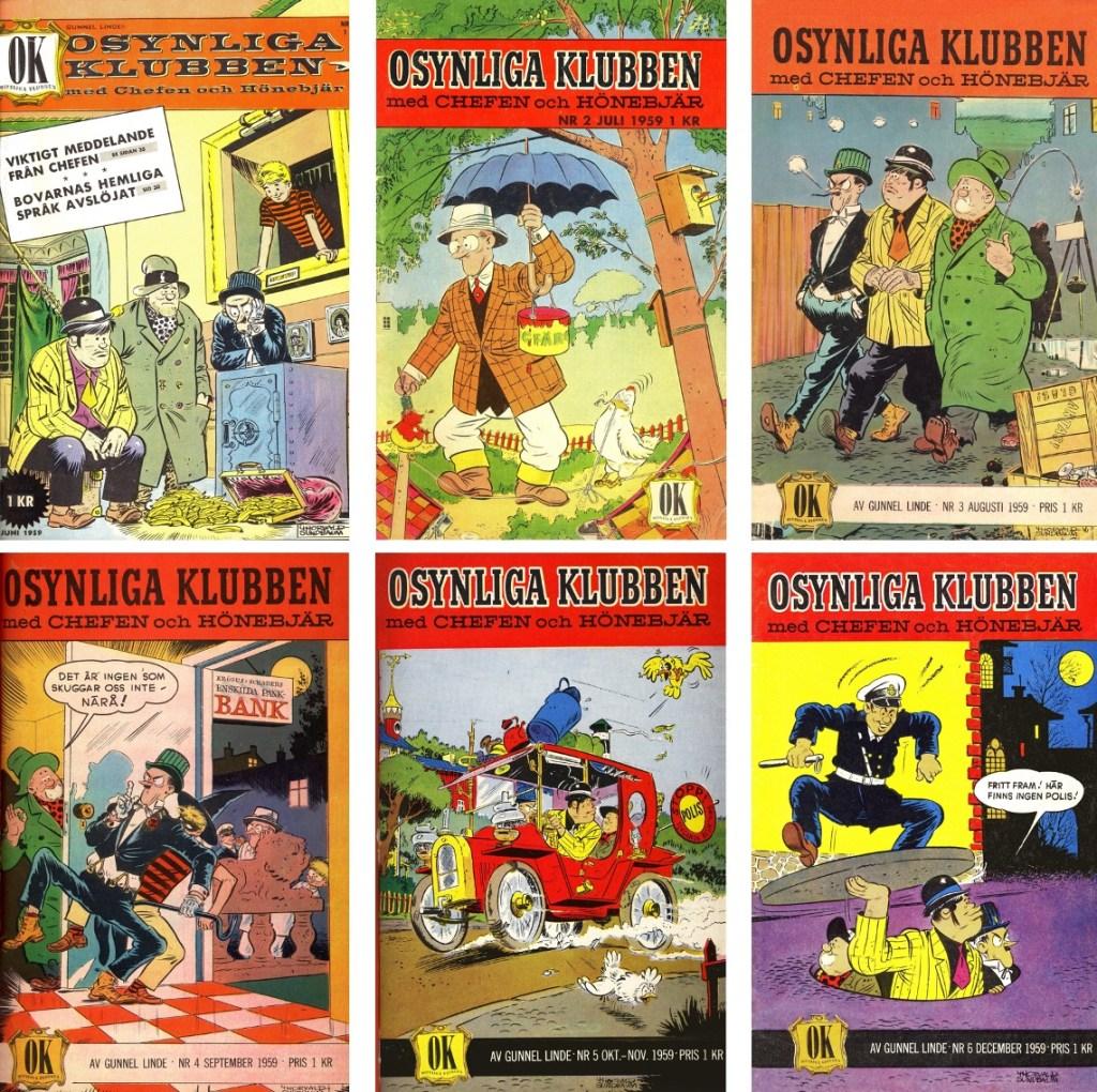 Serietidningen Osynliga klubben utkom med sex utgåvor (1959). ©Å&Å