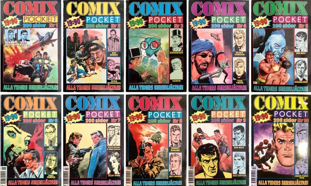 Comix pocket utkom med tio utgåvor (1989-90). ©Serieförlaget