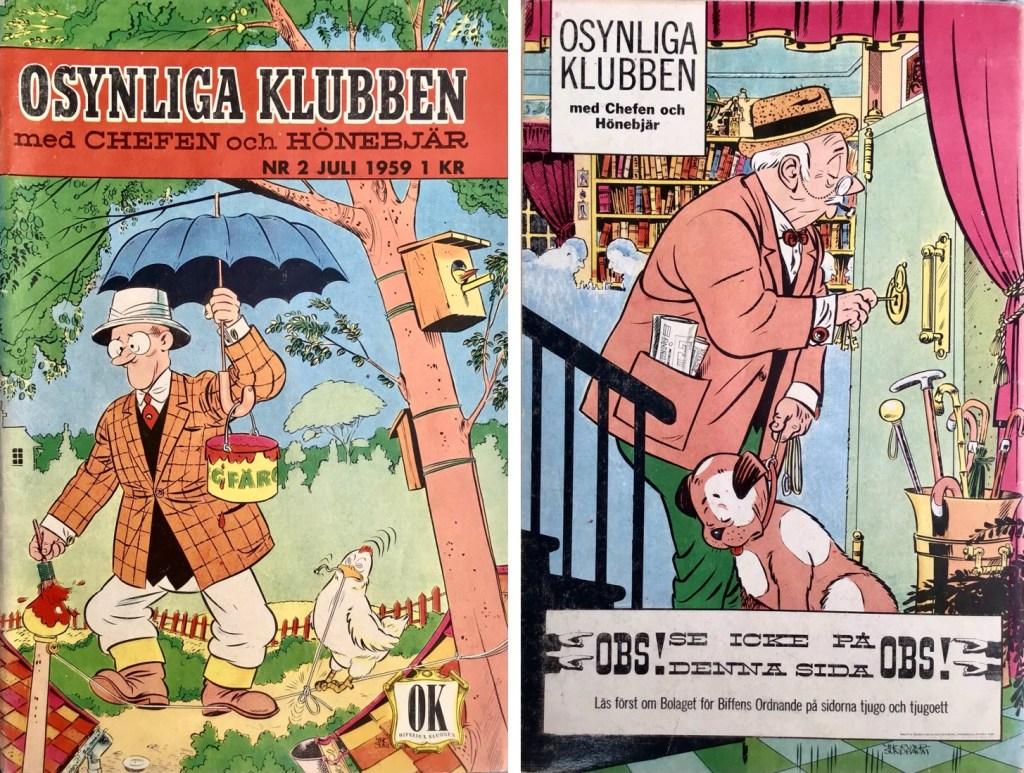 Omslagets fram- och baksida till Osynliga klubben nr 2. ©Å&Å