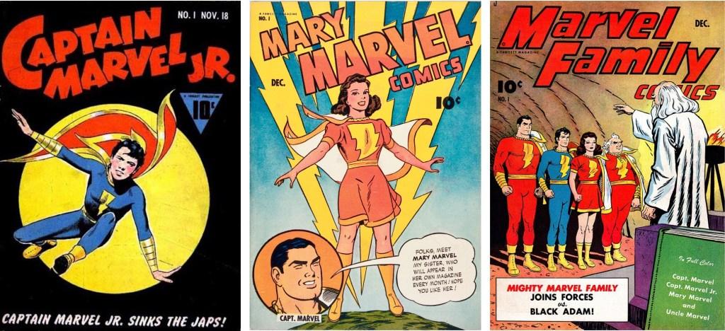 Och Marvel-familjen blev utökad med Captain Marvel Jr. (1942) och Mary Marvel (1945). ©Fawcett