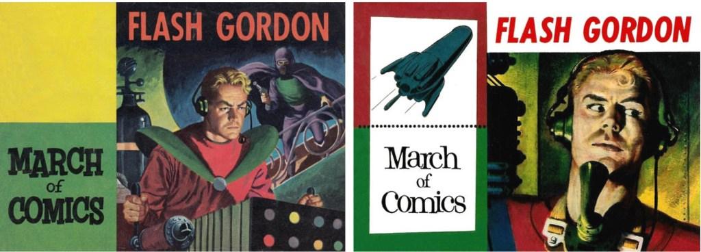 Omslag till March of Comics #133 (1955) och #142 (1956). ©Western
