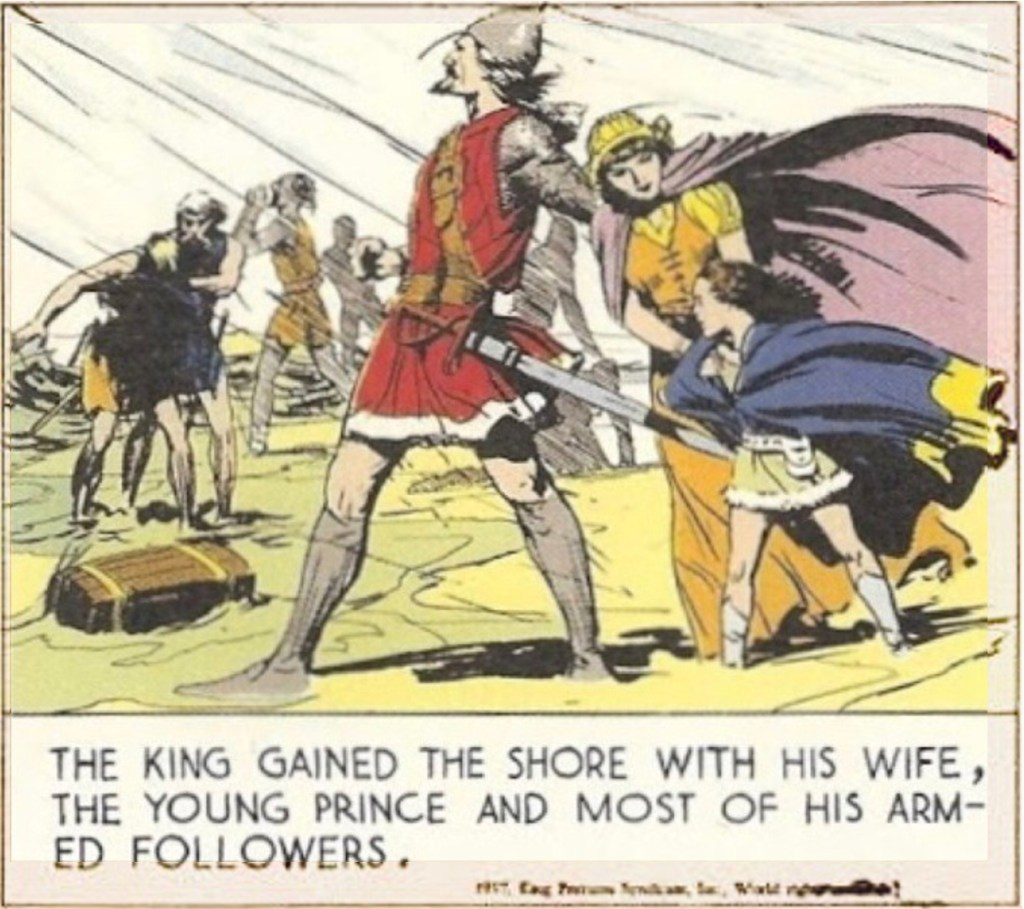 Första bilden på den unge Prins Valiant. ©KFS